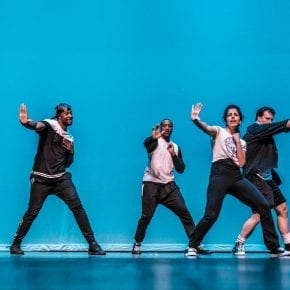 Hip Hop students perform on stage at the semi-annual Gala