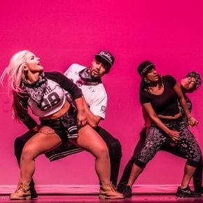 B2D Hip Hop students perform on stage at the semi-annual Gala